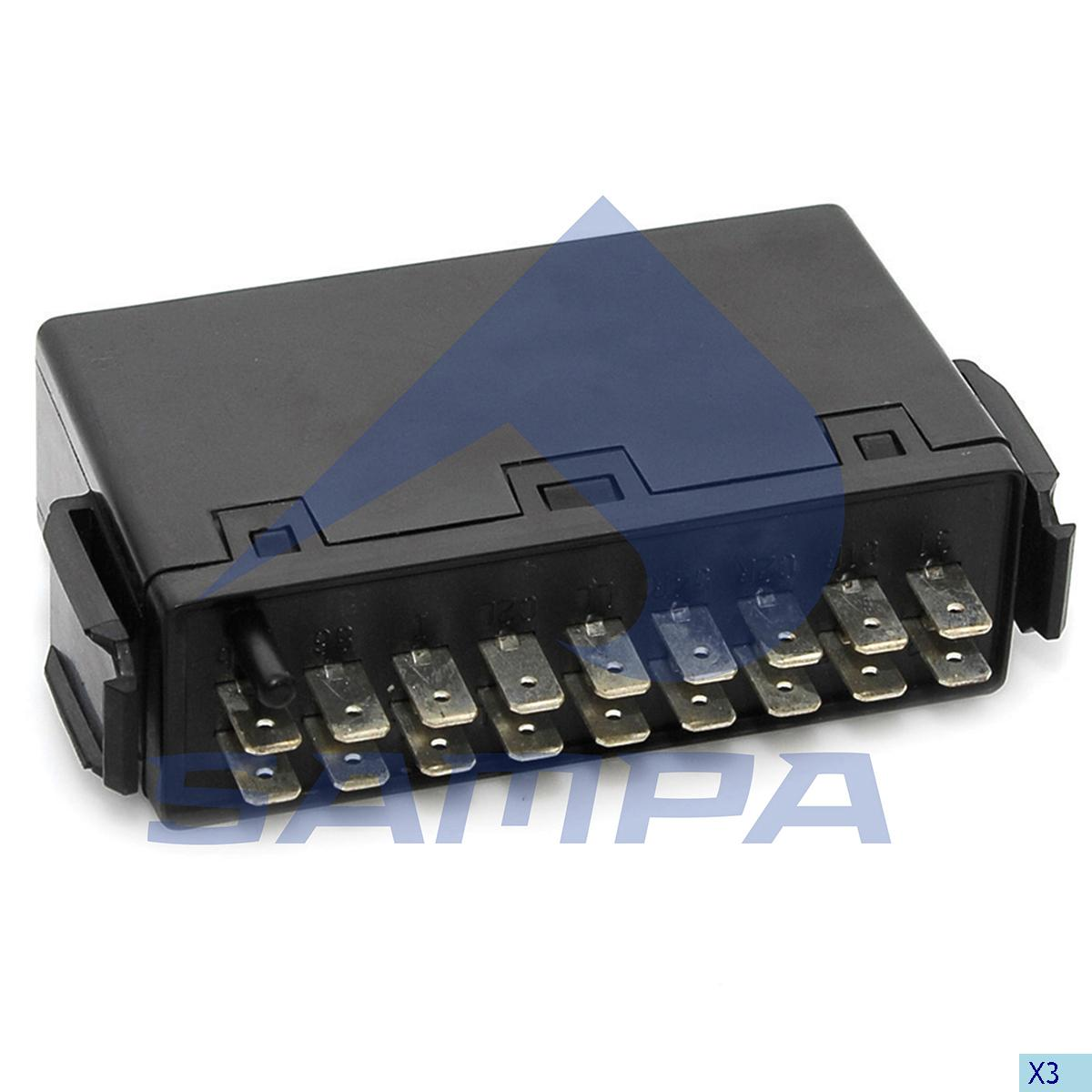 Flasher Relay, Central Electric Unit, Mercedes, Electric System