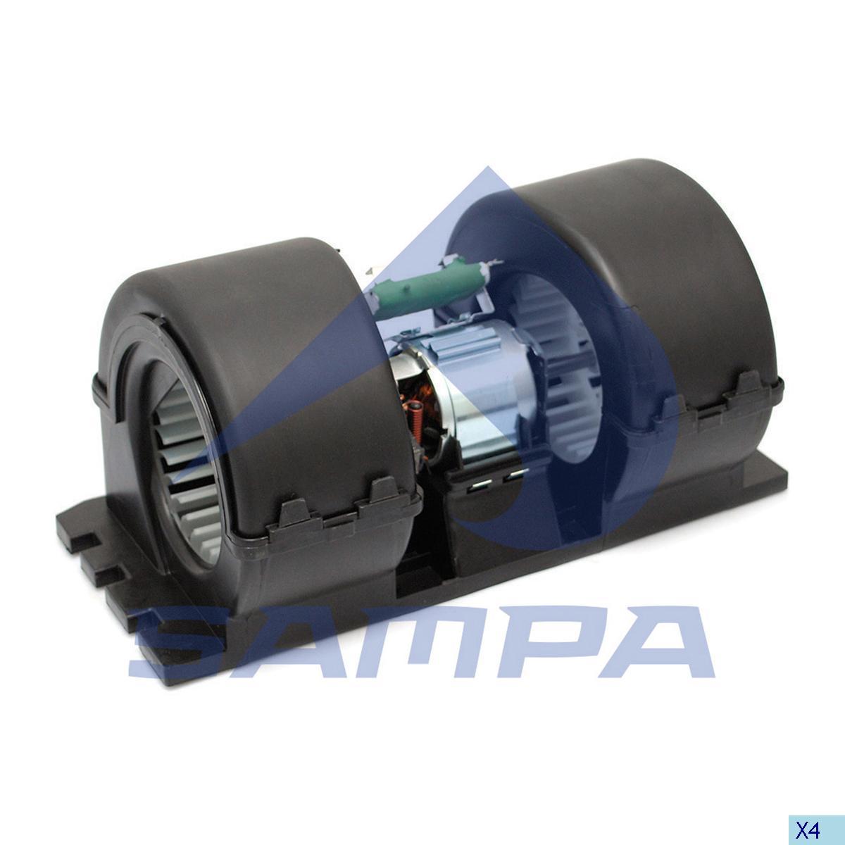 Fan Motor, Cab Heating & Ventilation, Mercedes, Cab
