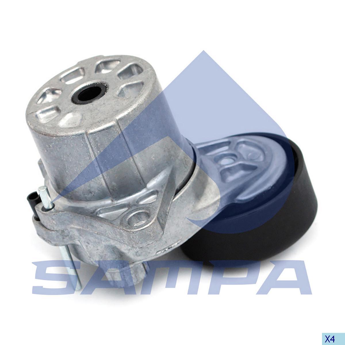 Belt Tensioner, Fan, Mercedes, Engine