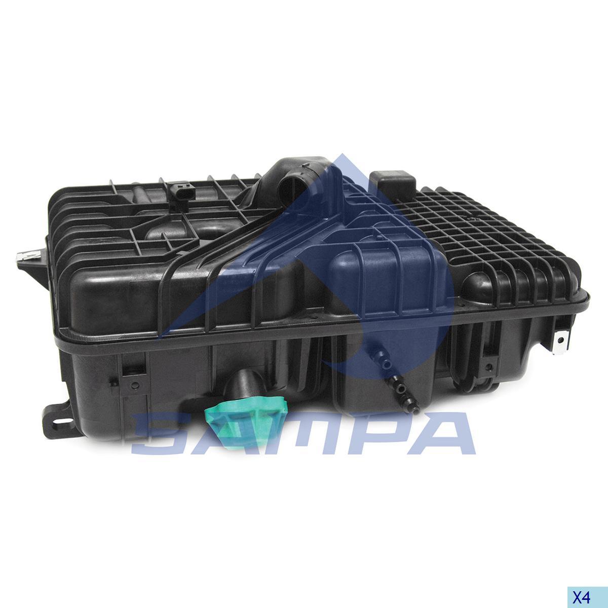 Expansion Tank, Radiator, Mercedes, Engine