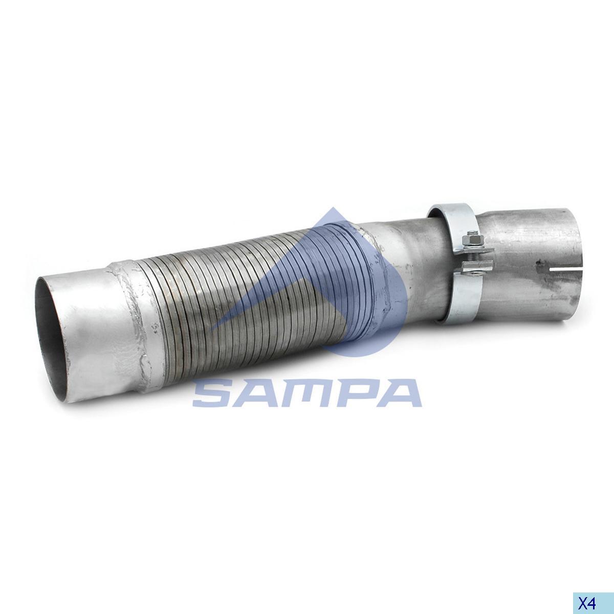Flexible Pipe, Exhaust, Mercedes, Engine