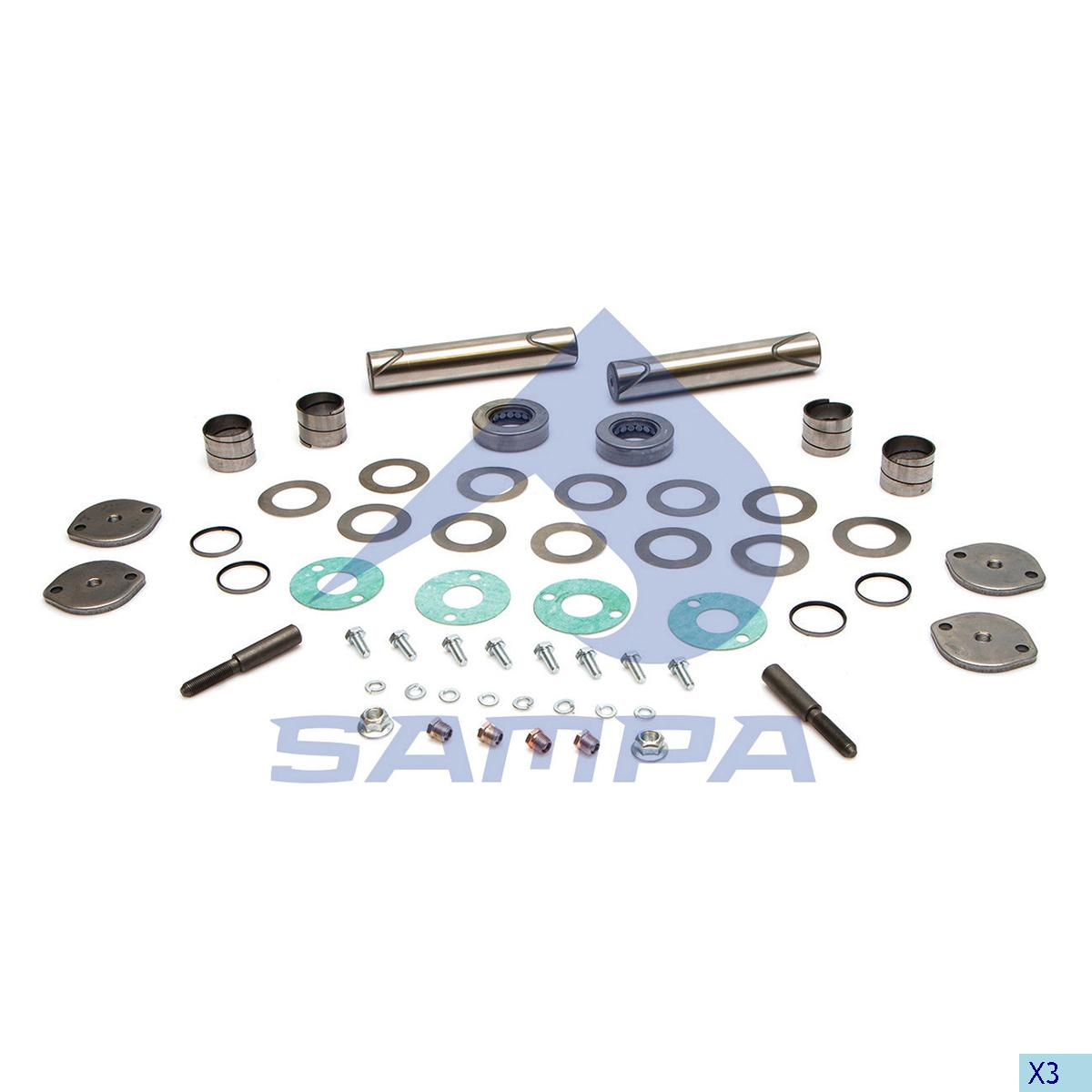 King Pin Kit, Axle Steering Knuckle, Kaiser, Power Unit