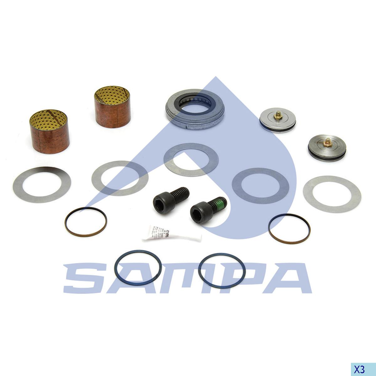 King Pin Kit, Axle Steering Knuckle, Hendrickson, Power Unit