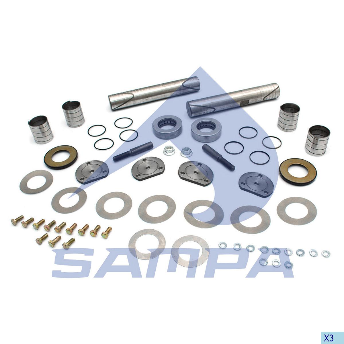 King Pin Kit, Axle Steering Knuckle, International Navistar, Power Unit