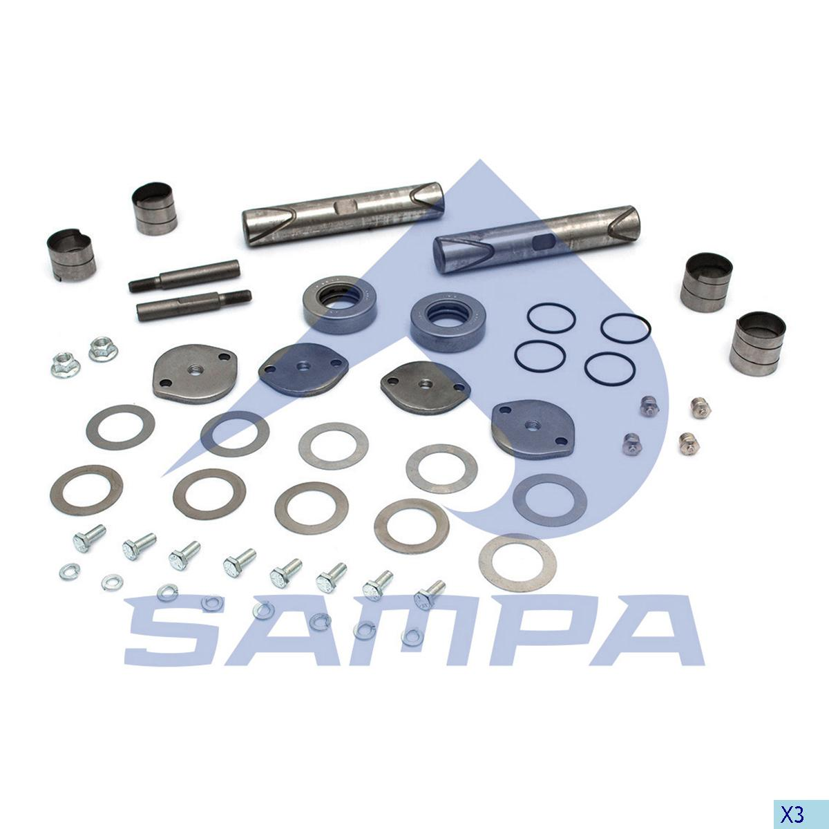 King Pin Kit, Axle Steering Knuckle, Chevrolet, Power Unit