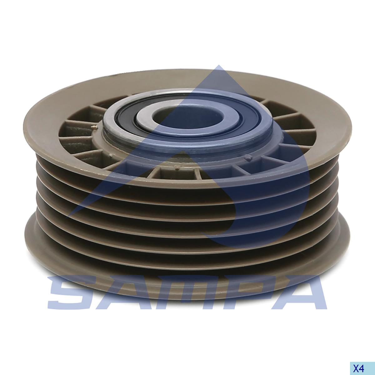 Tension Roller, Fan, Mercedes, Engine