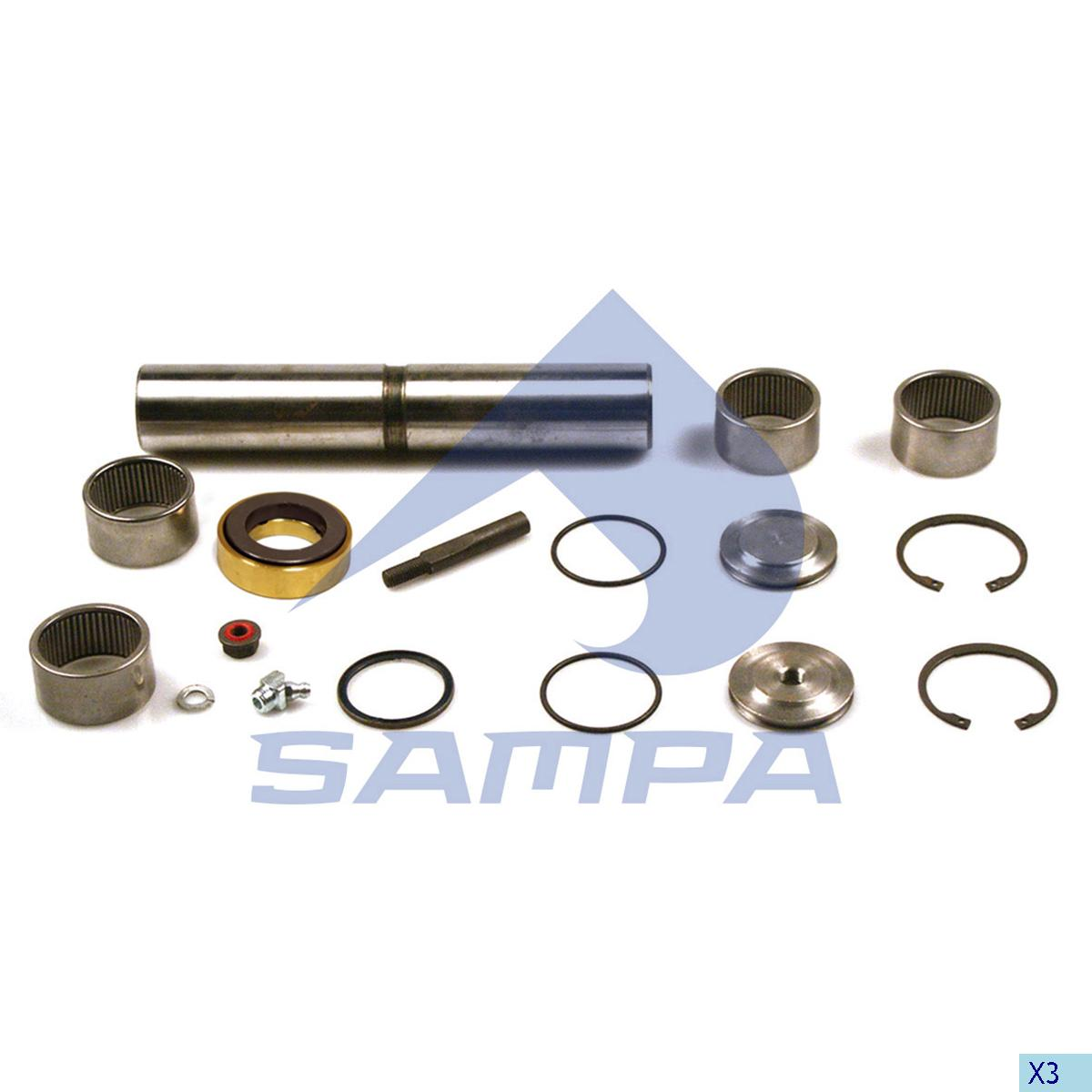 King Pin Kit, Axle Steering Knuckle, Mercedes, Power Unit