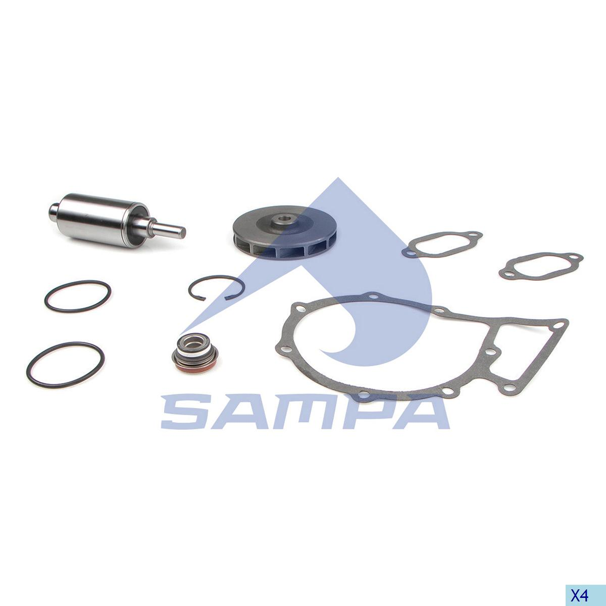 Repair Kit, Water Pump, Mercedes, Engine