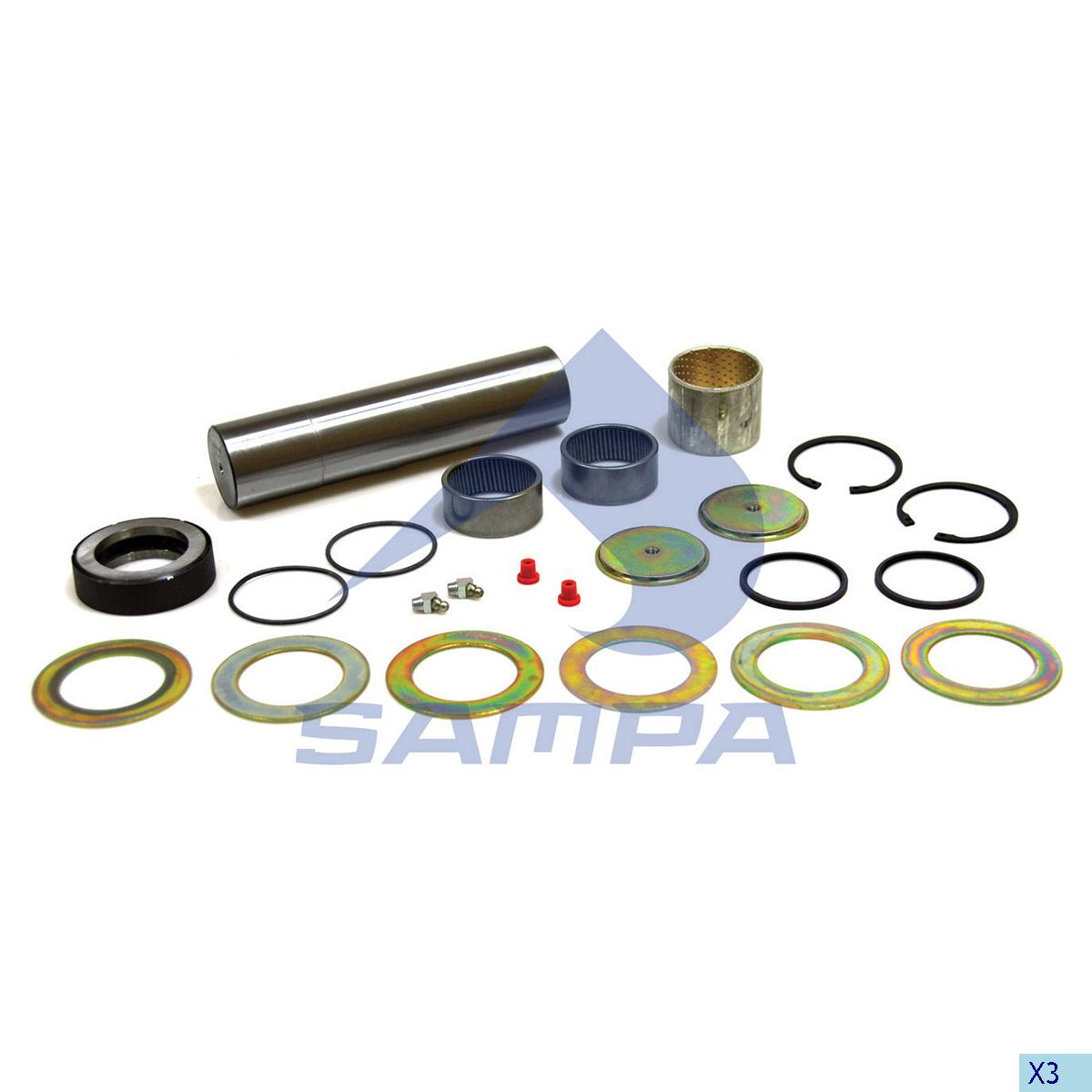 King Pin Kit, Axle Steering Knuckle, Man, Power Unit