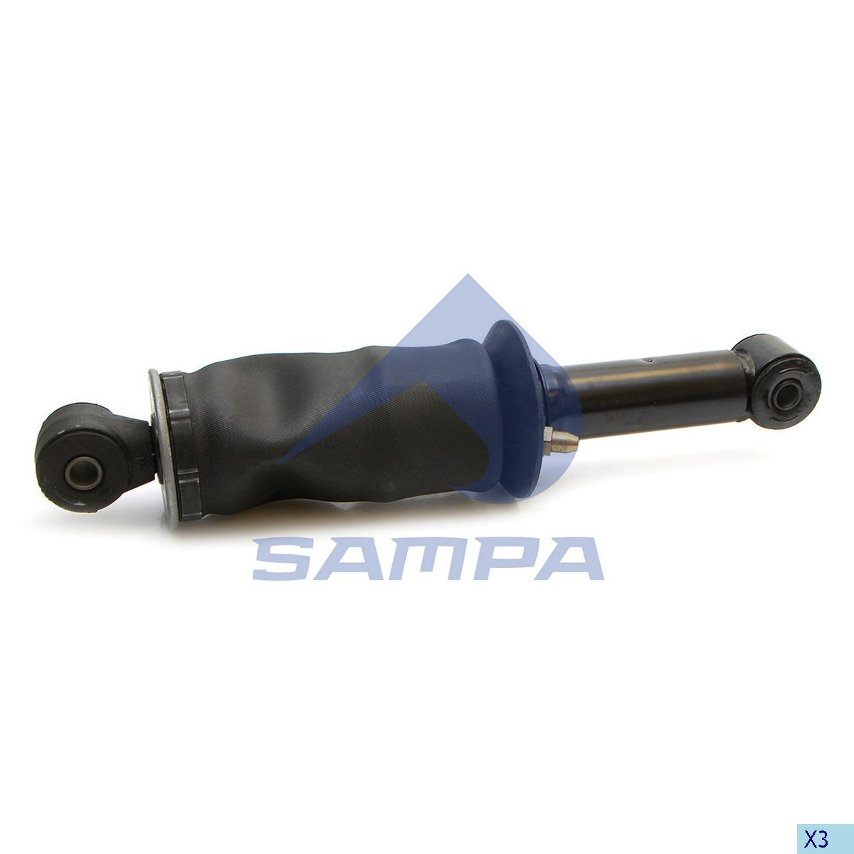Shock Absorber, with Air Bellow, Cab, Volvo, Cab