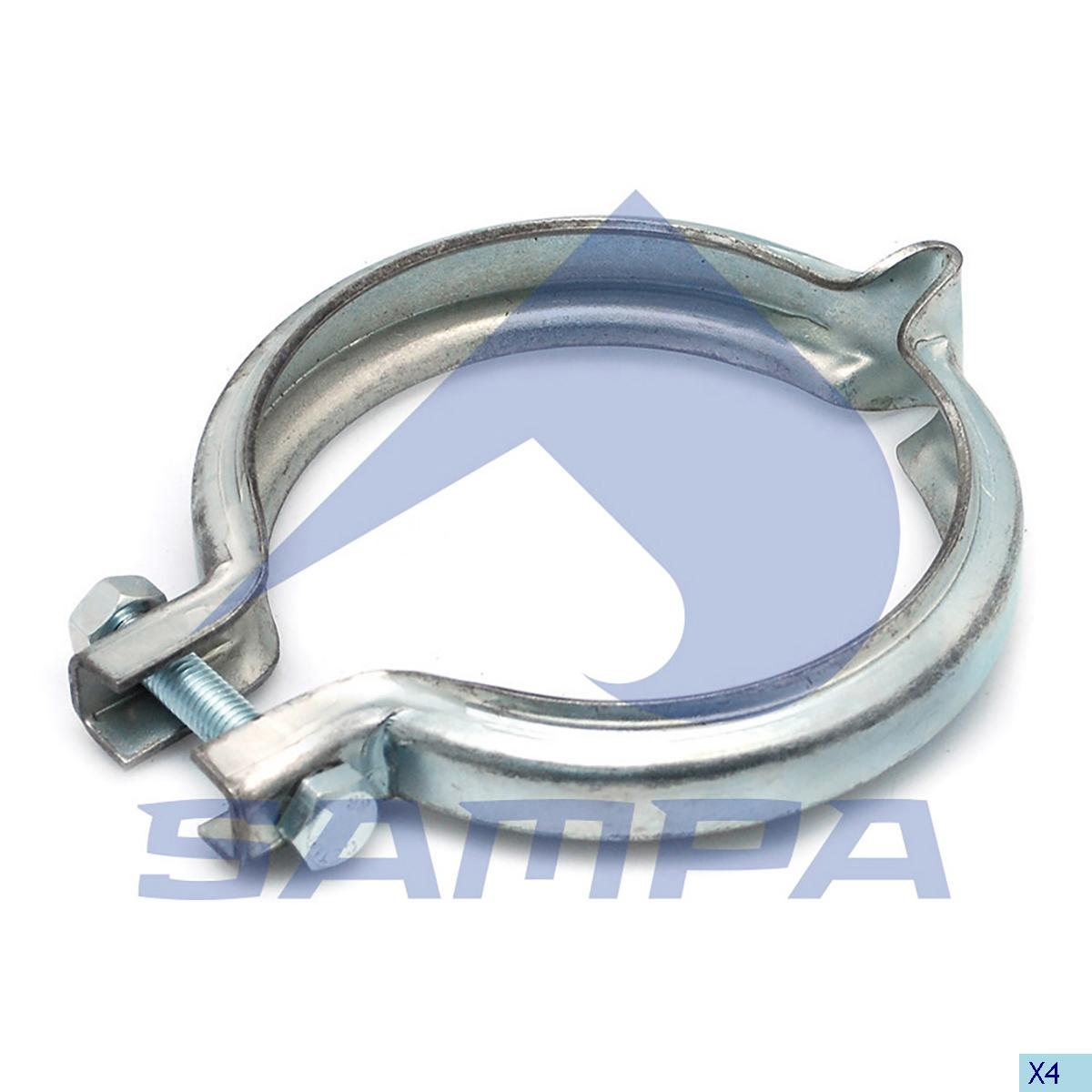 Clamp, Exhaust, Volvo, Engine