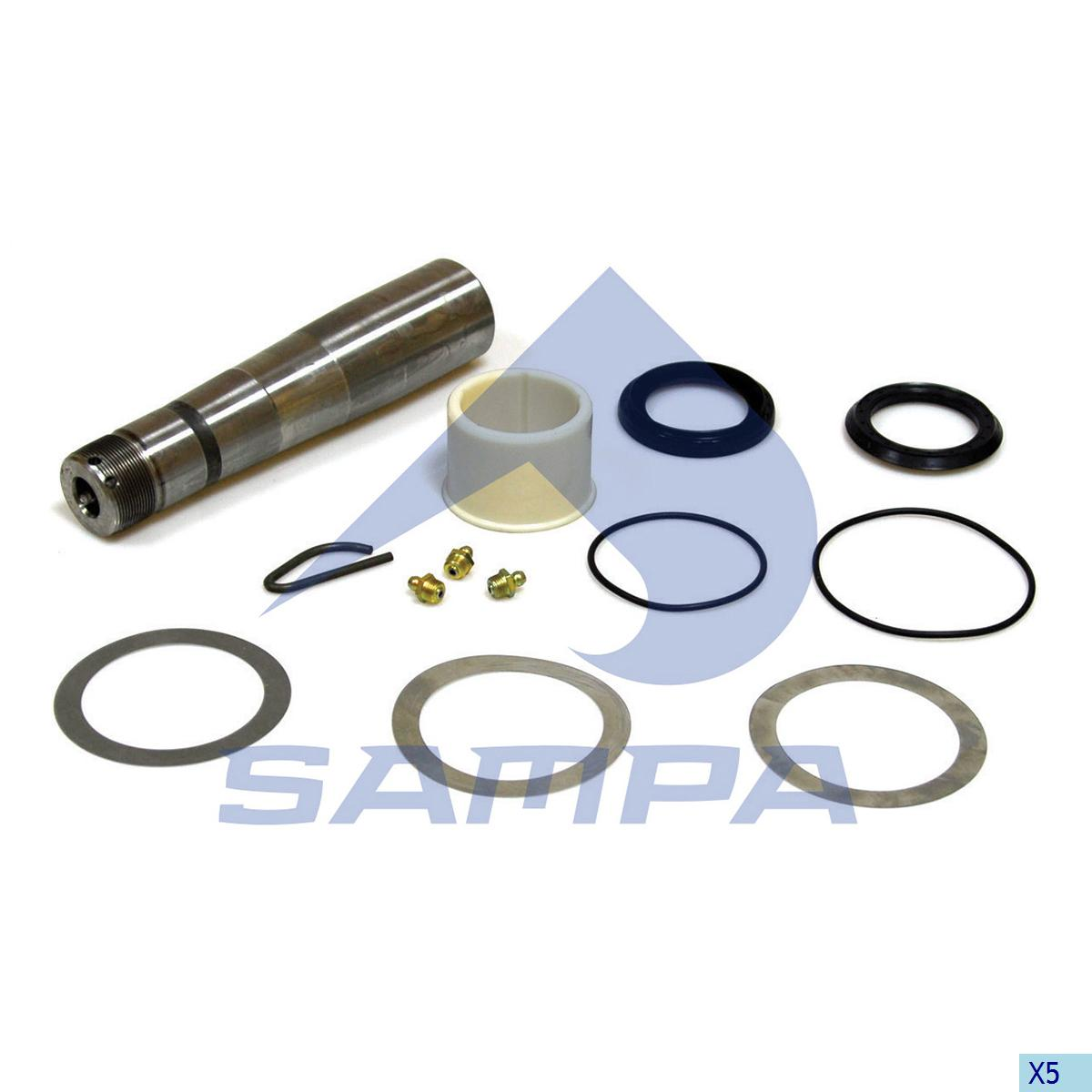King Pin Kit, Axle Steering Knuckle, Volvo, Power Unit