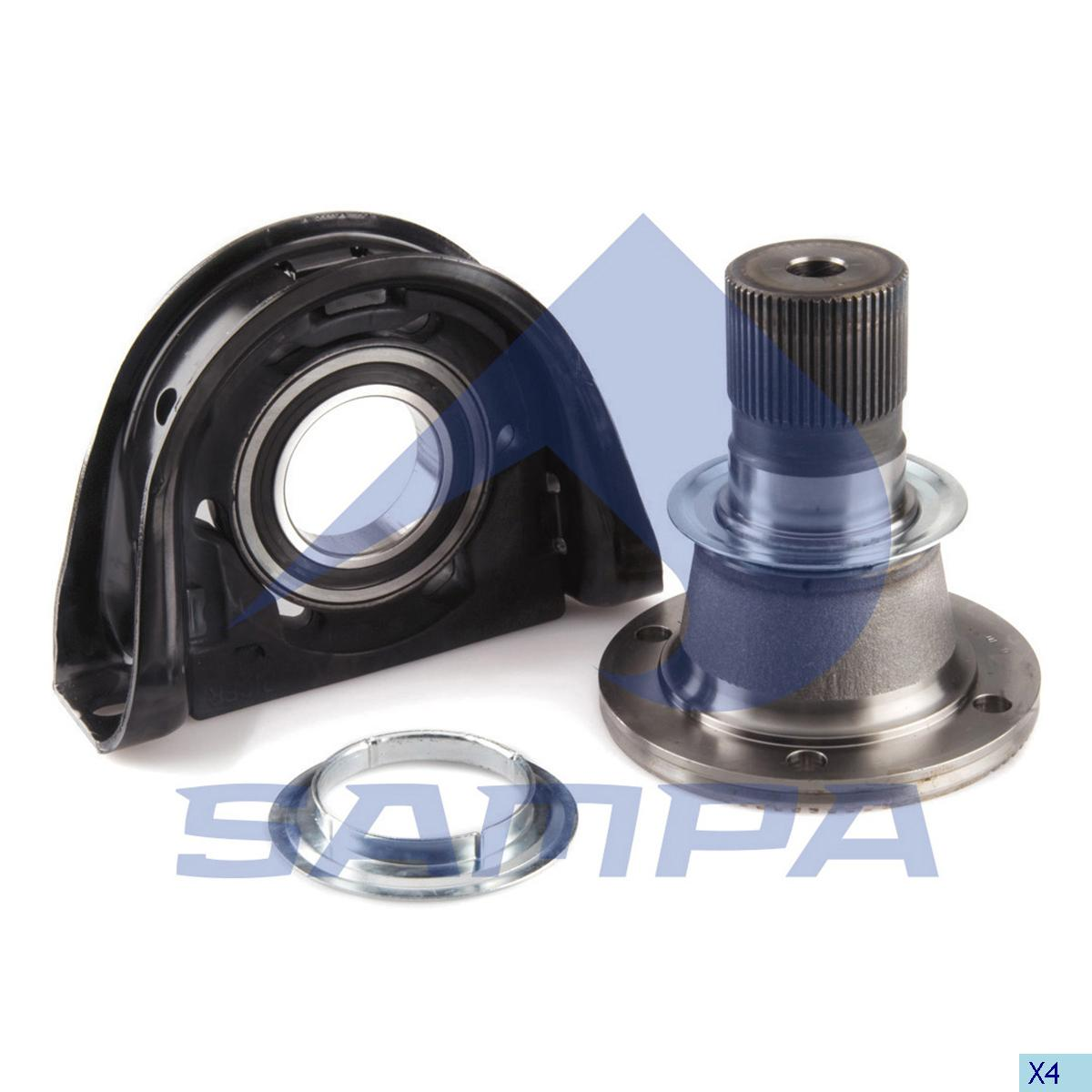 Shaft Bearing With Flange, Volvo, Propeller Shaft