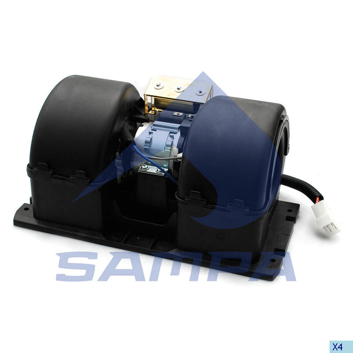 Fan Motor, Cab Heating & Ventilation, Volvo, Cab