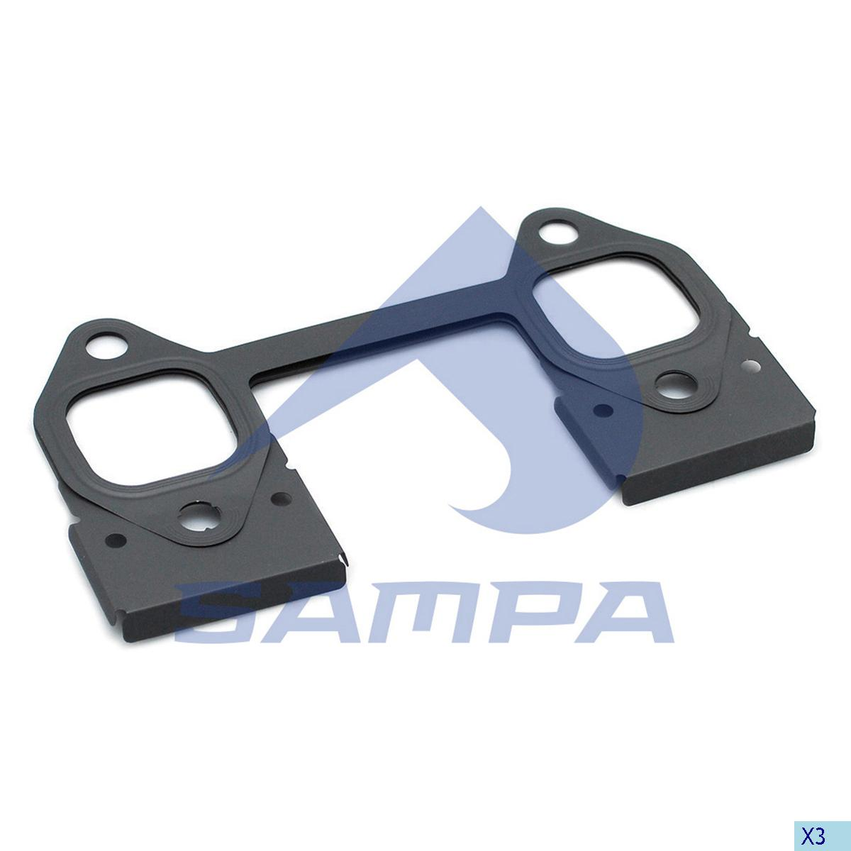 Gasket, Exhaust Manifold, R.V.I., Engine