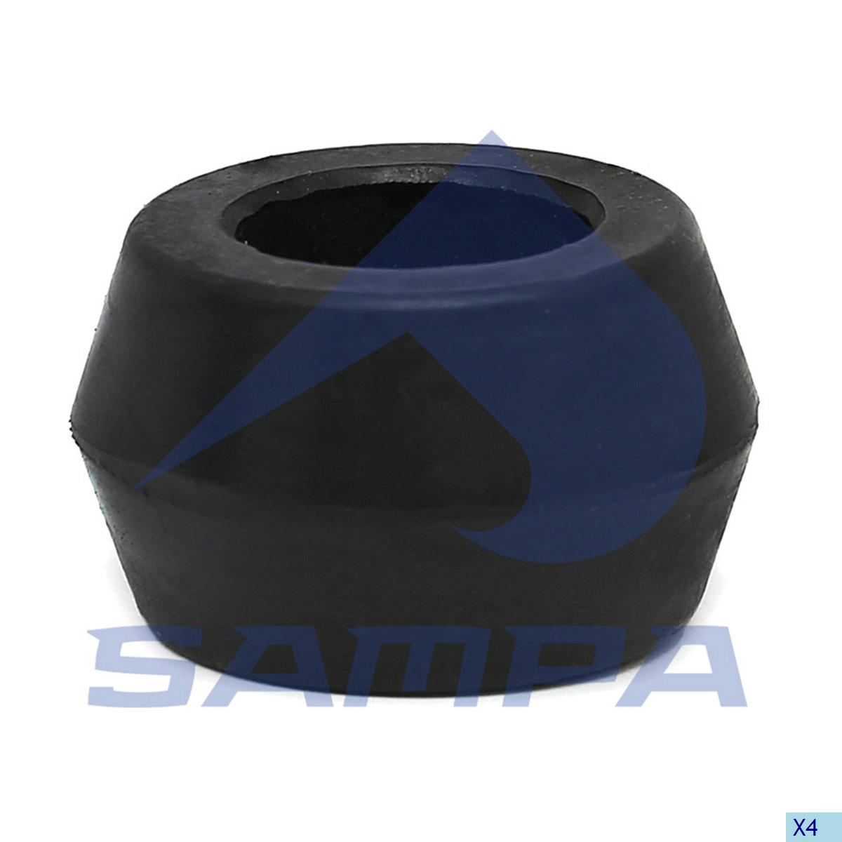 Rubber Bushing, Shock Absorber, Scania, Suspension