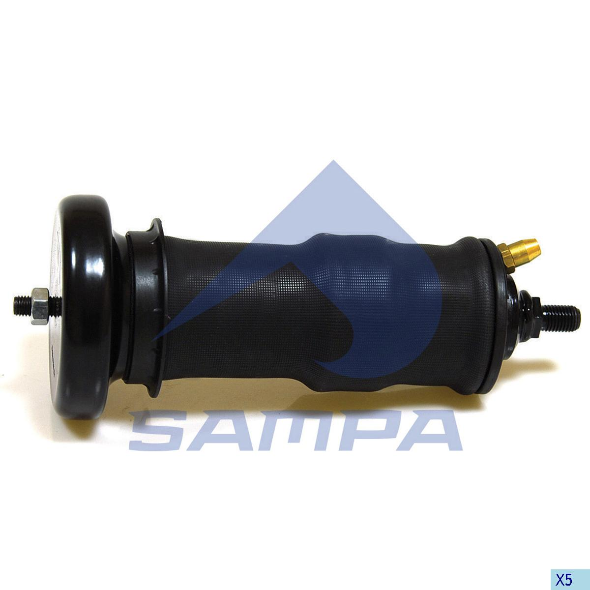 Shock Absorber, with Air Bellow, Cab, Scania, Cab