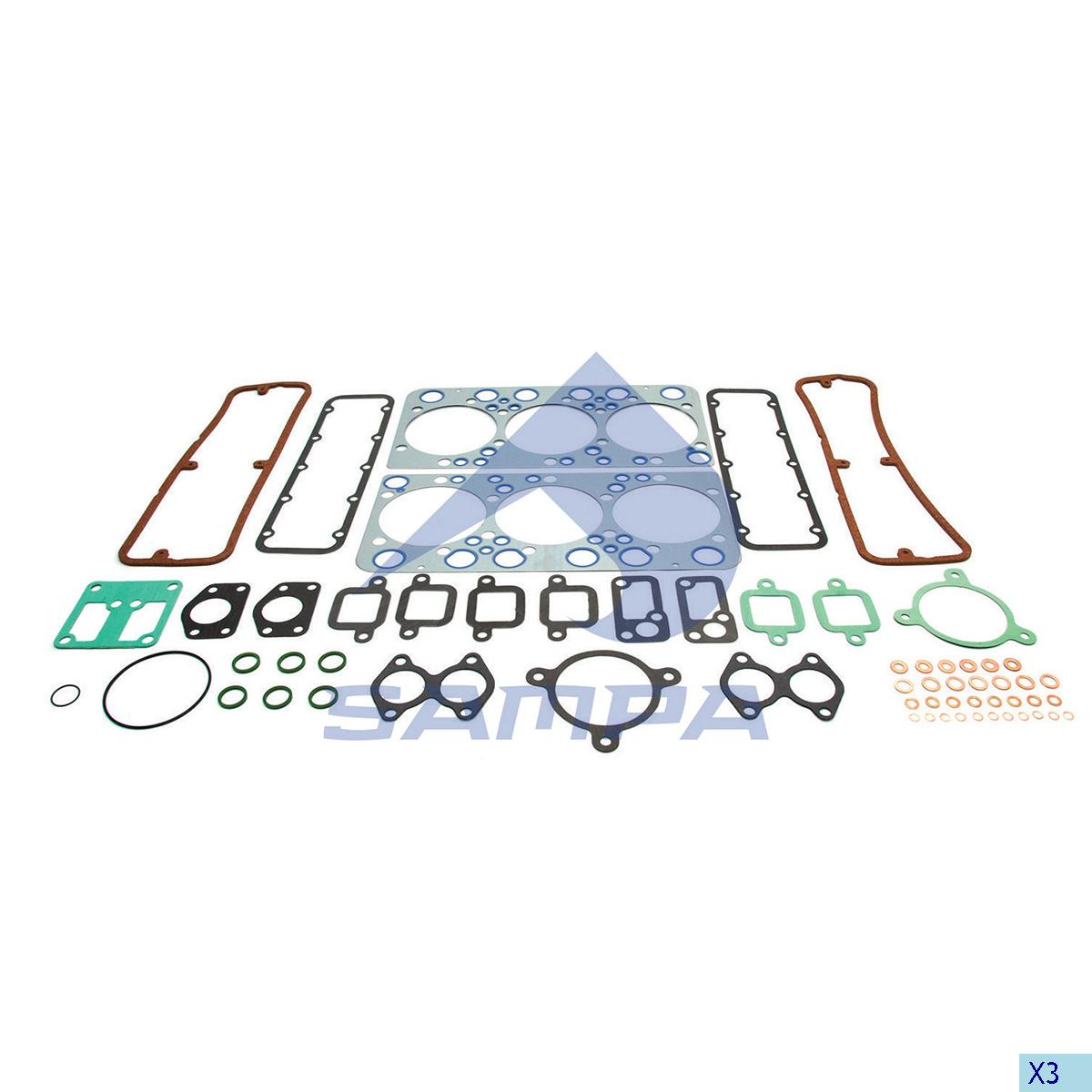 Gasket Kit, Cylinder Head, Scania, Engine