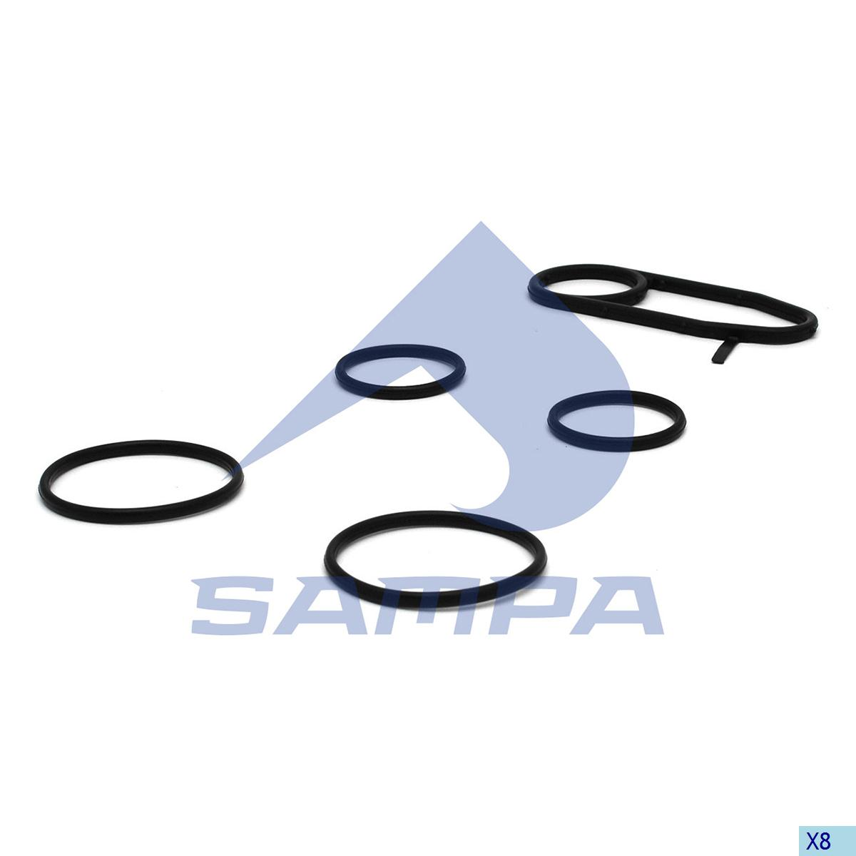Gasket Kit, Oil Cooler, Scania, Engine