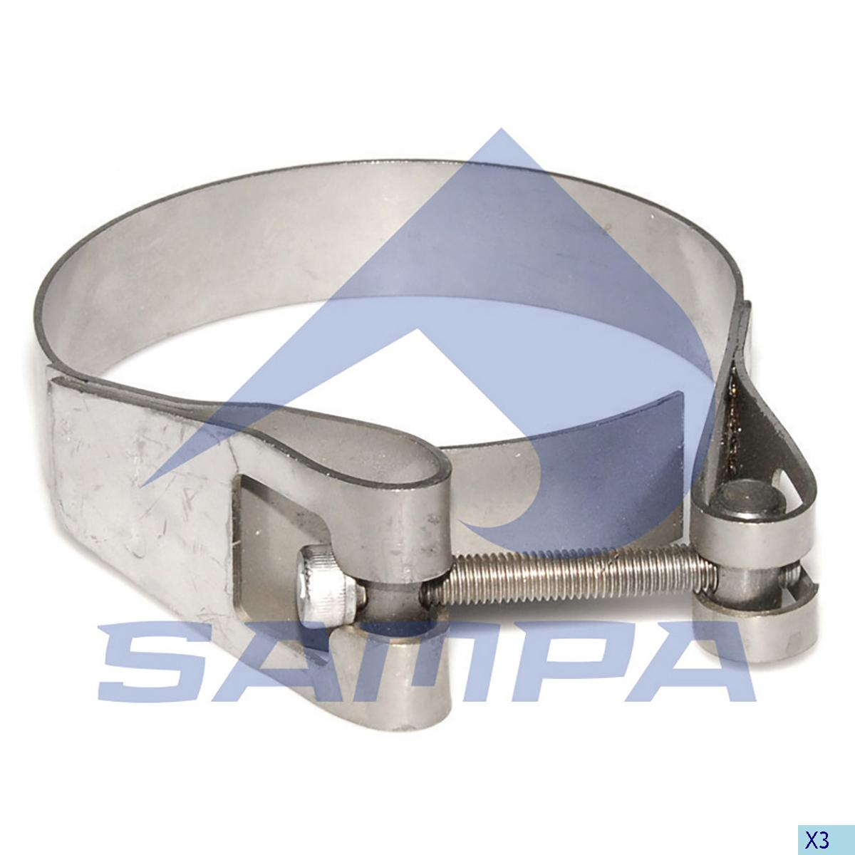 Clamp, Exhaust, Scania, Engine