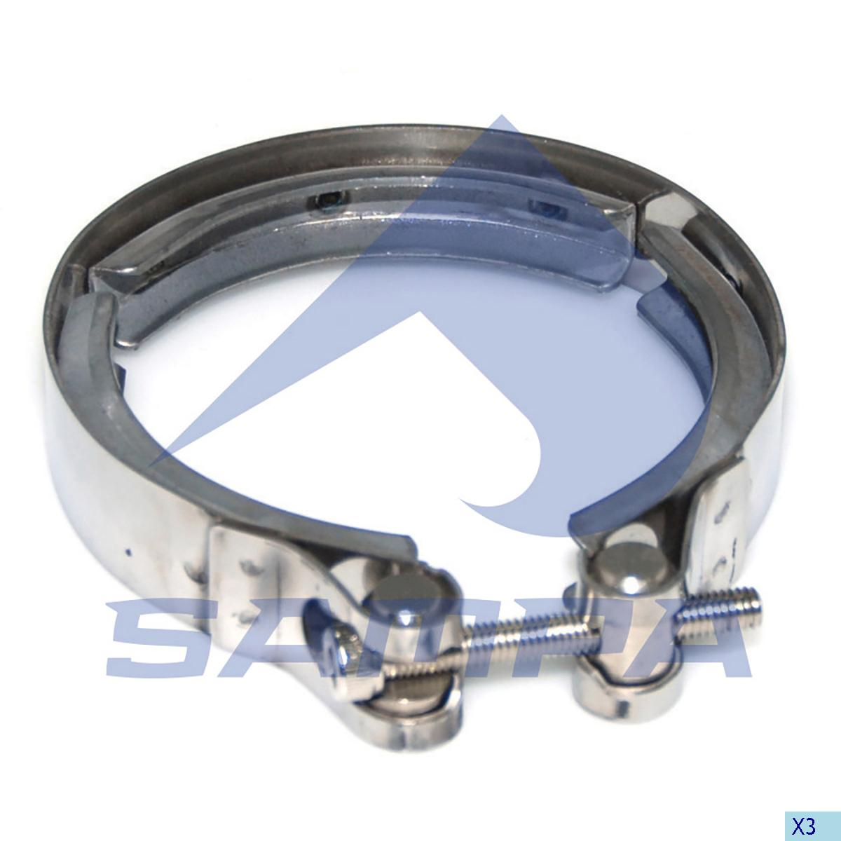 Clamp, Turbocharger, Scania, Engine