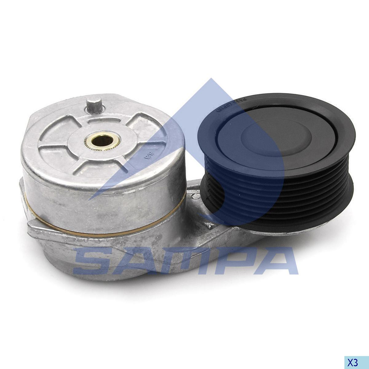 Belt Tensioner, Fan, Scania, Engine