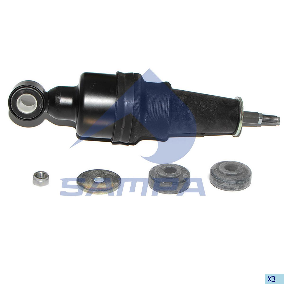 Shock Absorber, with Air Bellow, Cab, Daf, Cab