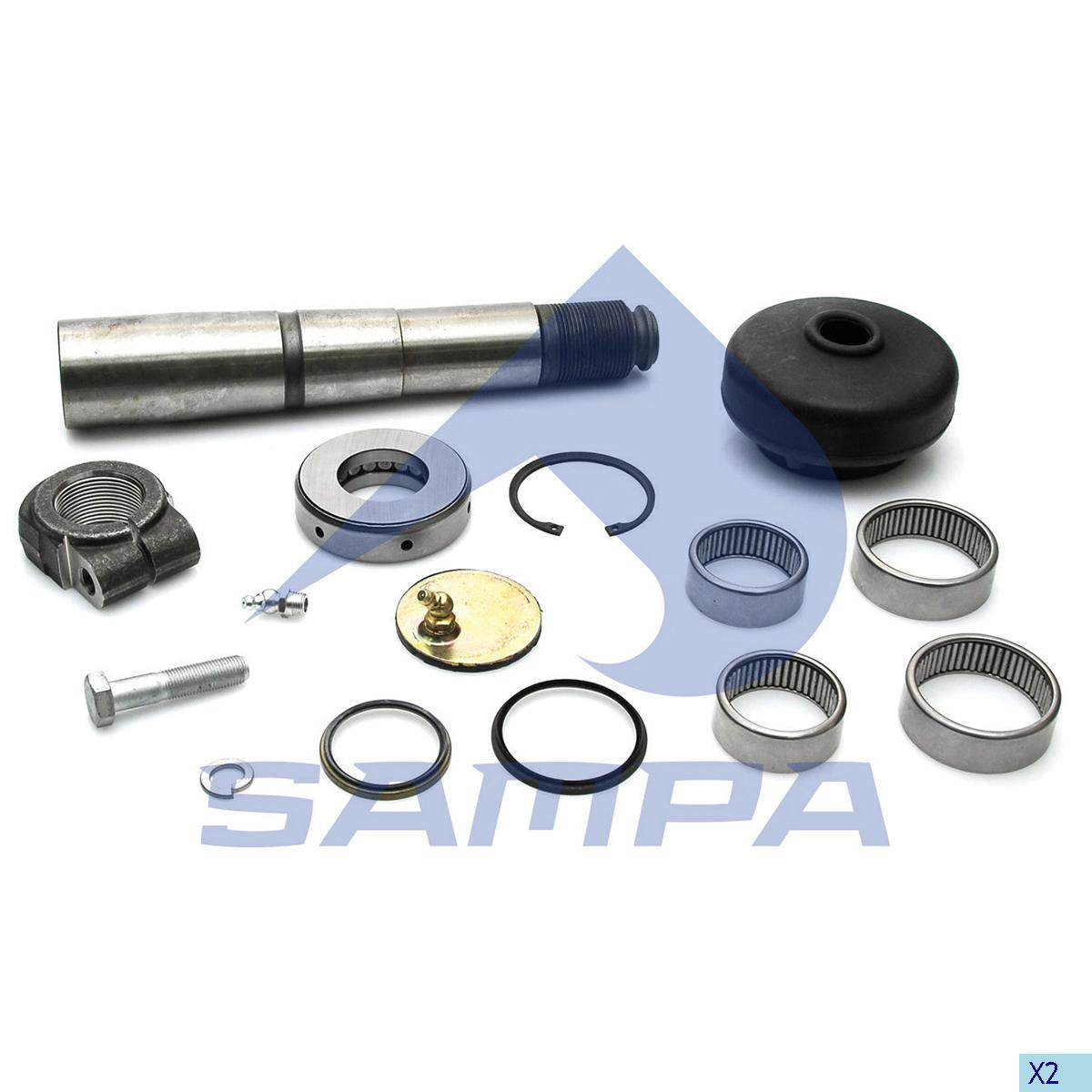 King Pin Kit, Axle Steering Knuckle, Iveco, Power Unit