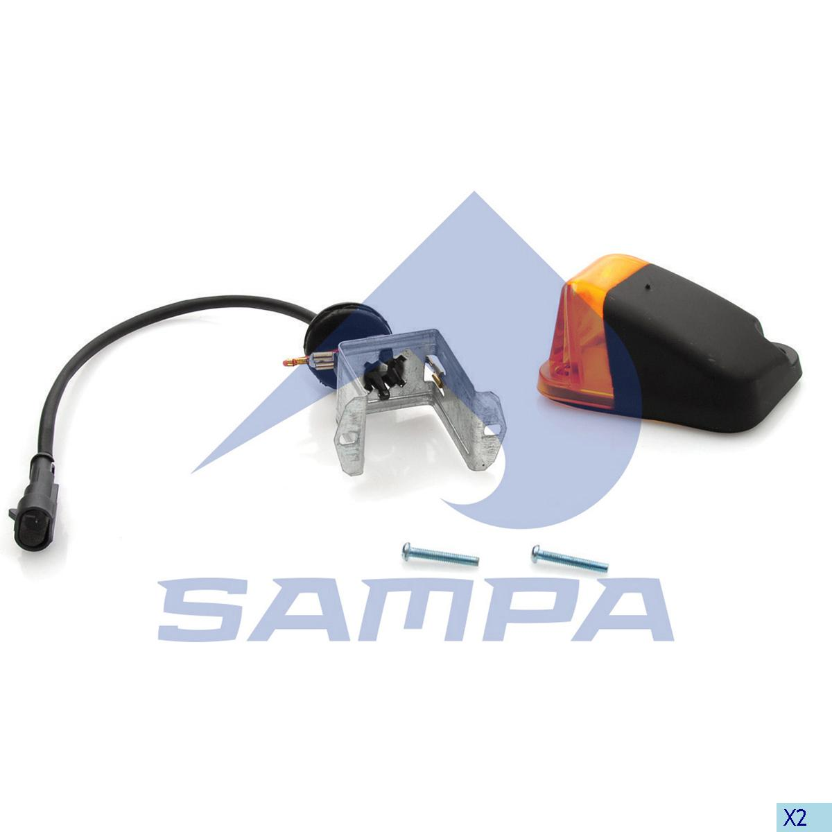End-Outline Marking Lamp, Iveco, Electric System