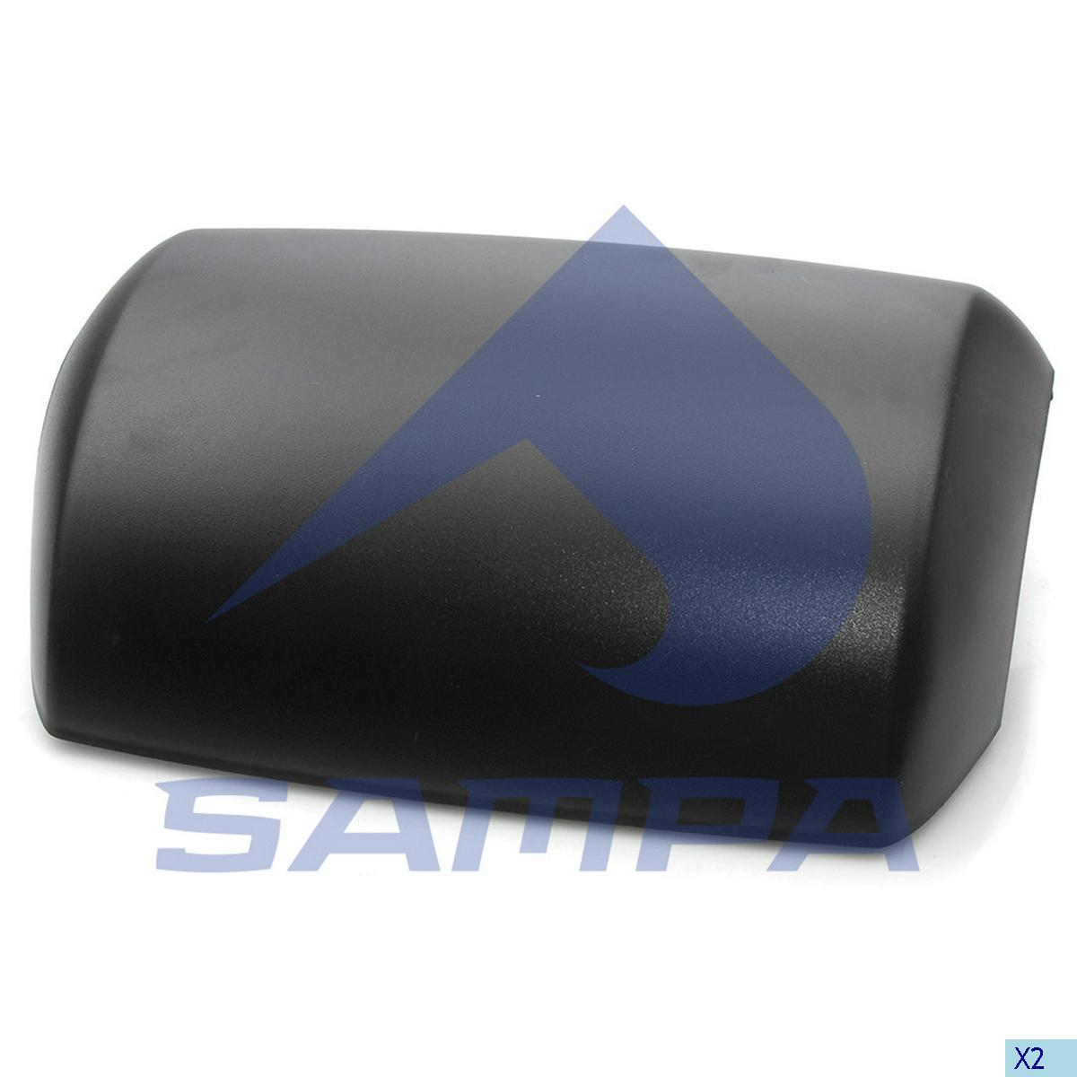 Cover, Mirror, Iveco, Cab