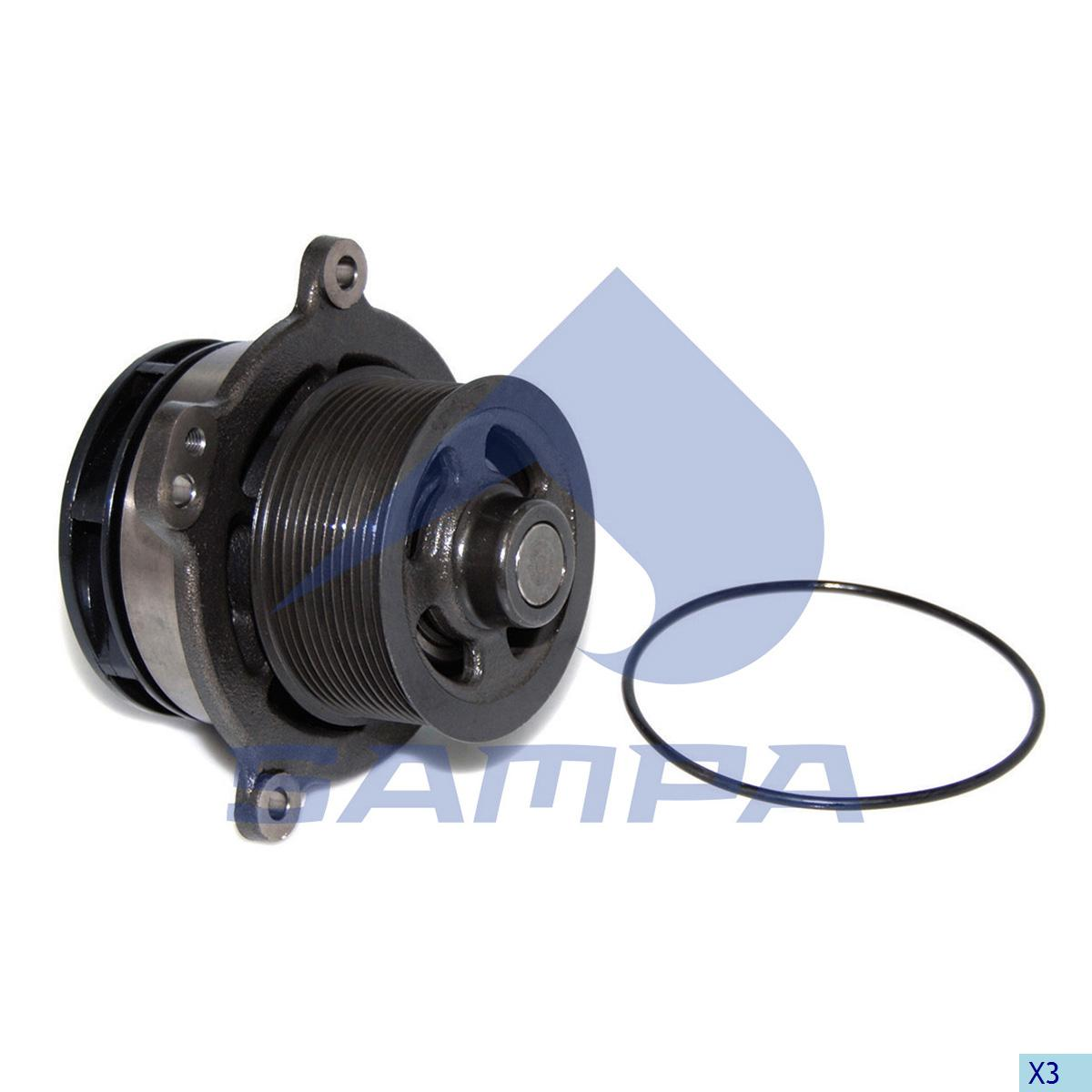 Water Pump, Iveco, Engine
