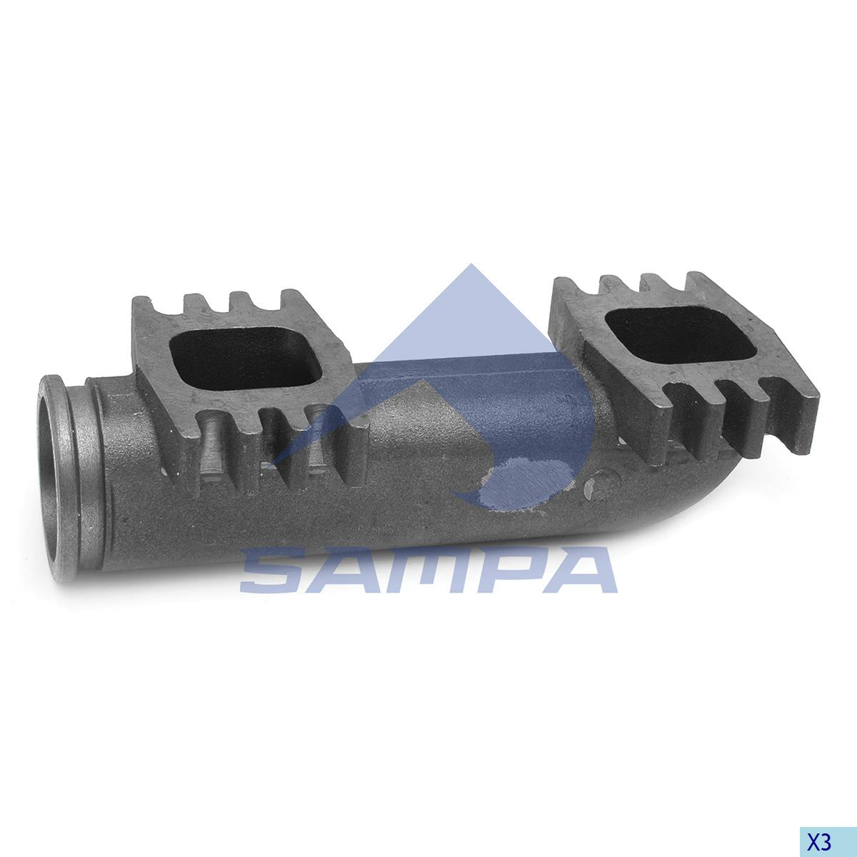 Exhaust Manifold, Iveco, Engine