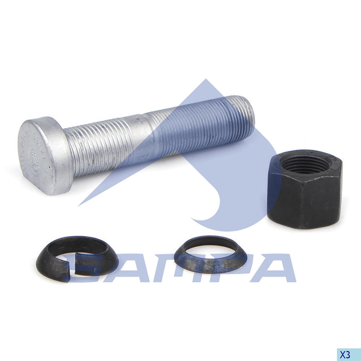 Repair Kit, Stud, Bergische Achsen, Power Unit