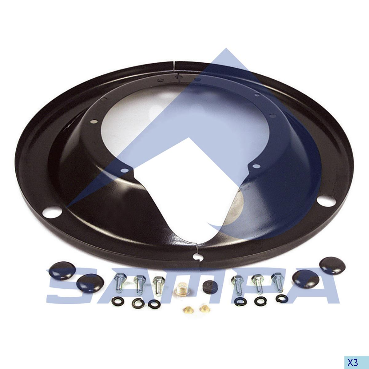 Brake Dust Cover Kit, R.V.I., Brake