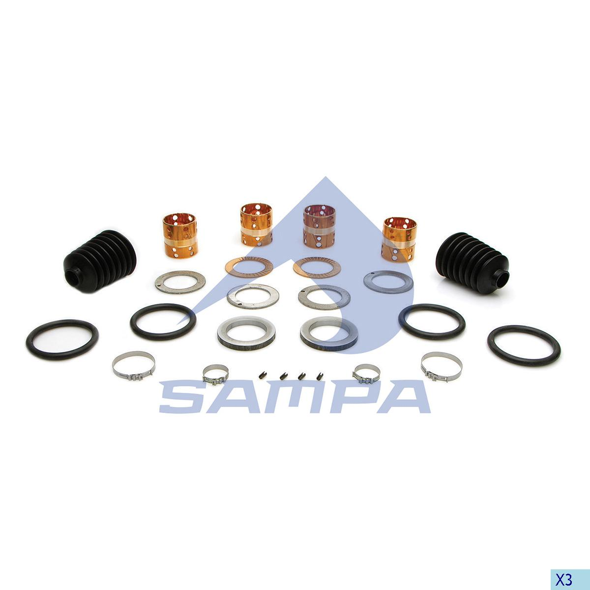 King Pin Kit, Axle Steering Knuckle, Sauer Achsen, Power Unit