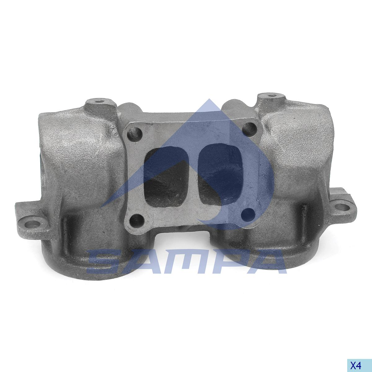 Exhaust Manifold, R.V.I., Engine