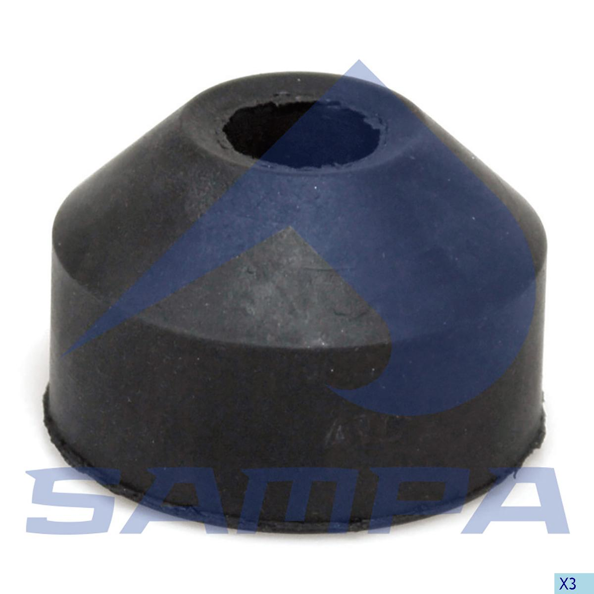 Rubber Bushing, Radiator, R.V.I., Engine
