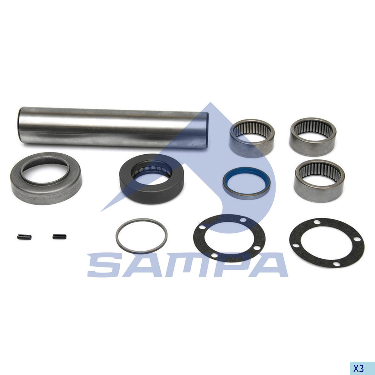 King Pin Kit, Axle Steering Knuckle, Setra, Power Unit