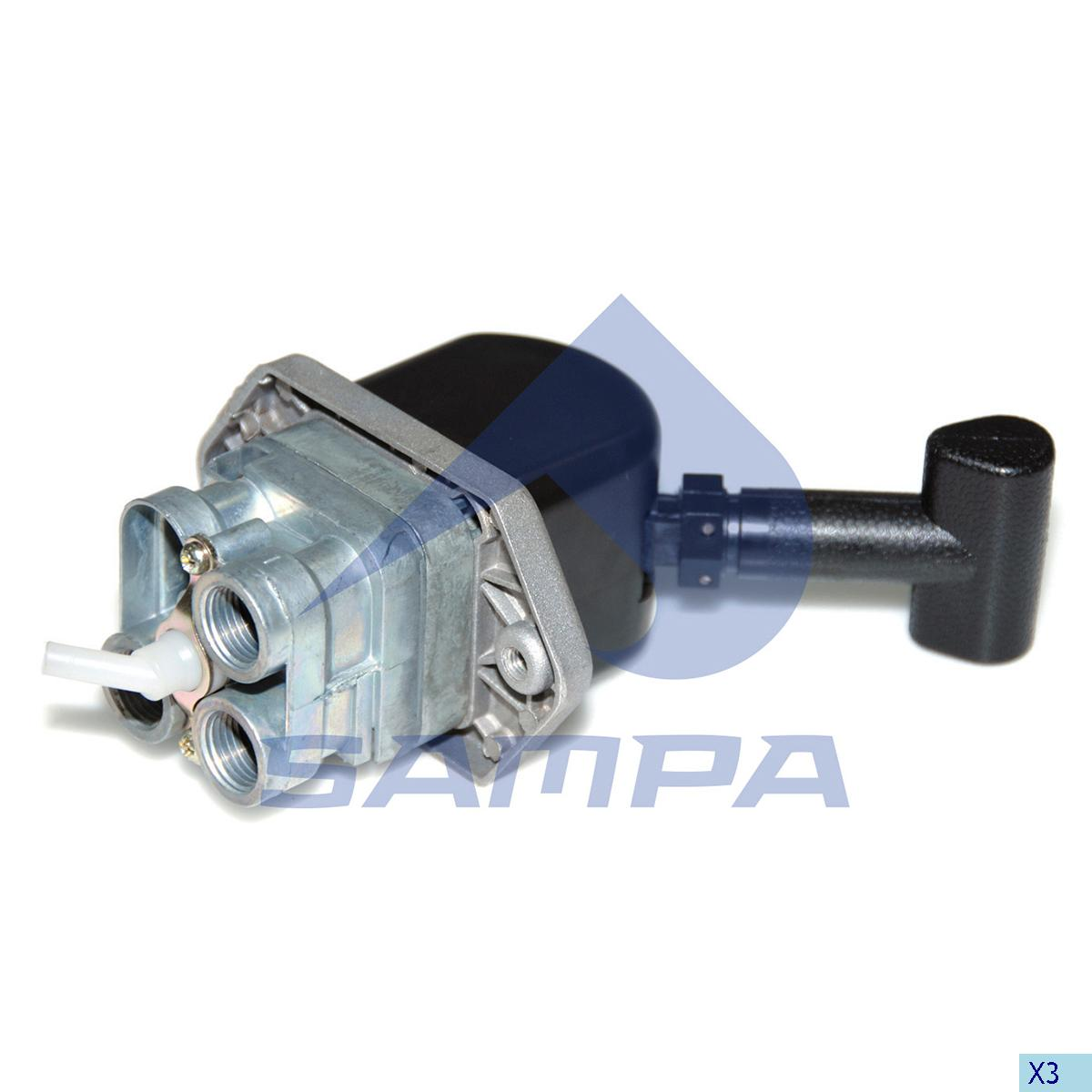 Hand Brake Valve, Daf, Compressed Air System