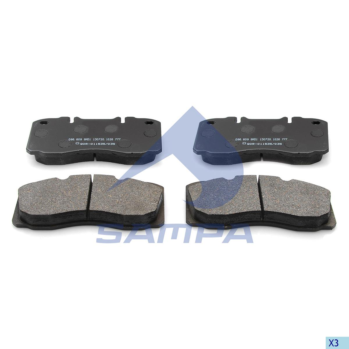 Kit, Brake Disc Pad, Iveco, Brake