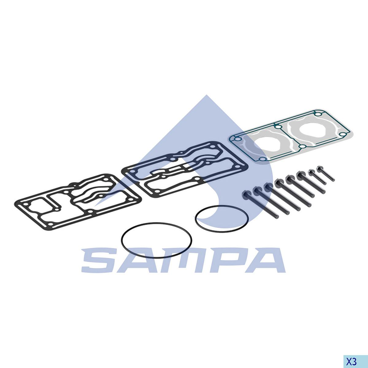 Gasket Kit, Cylinder Head, Mercedes, Compressed Air System