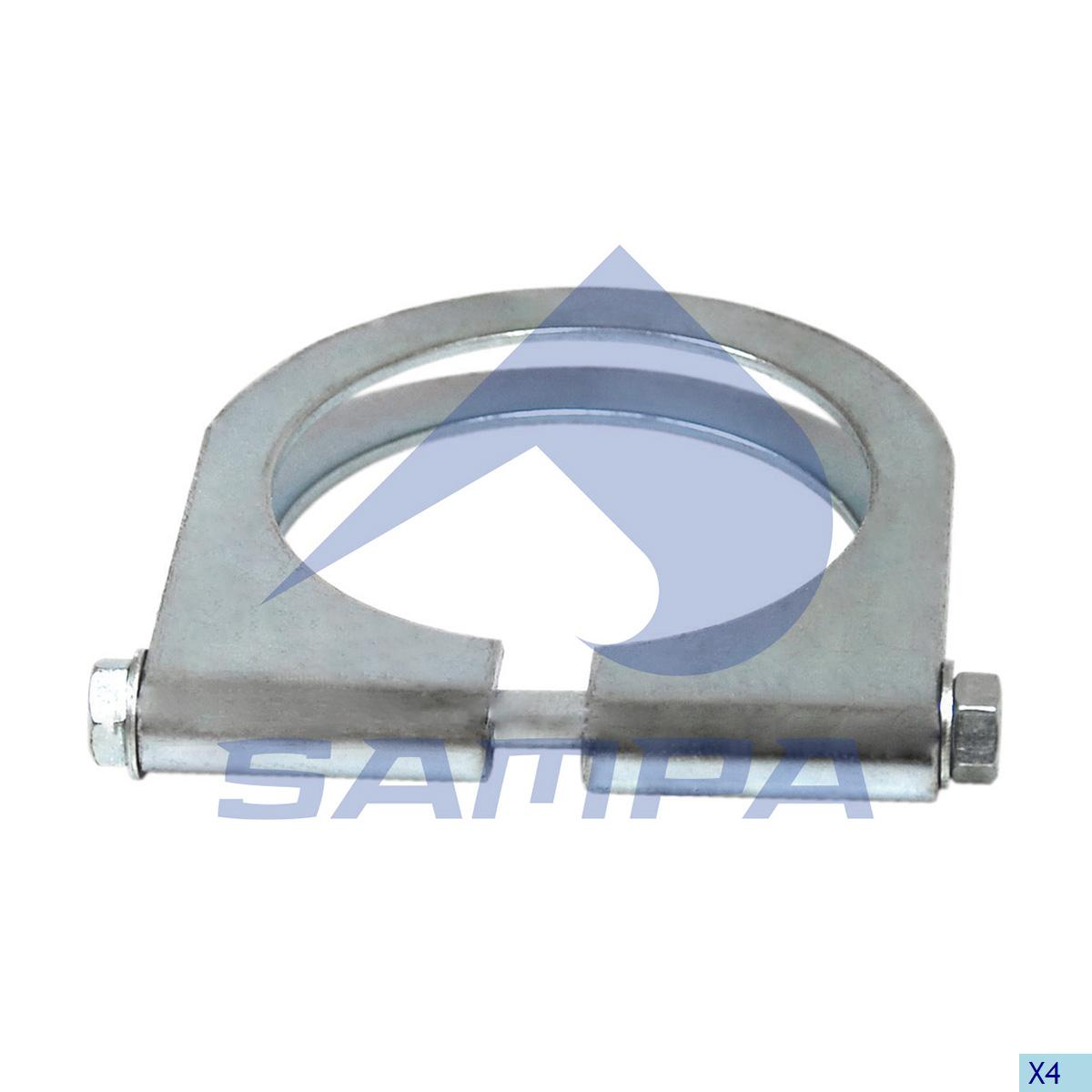 Clamp, Exhaust, Iveco, Engine