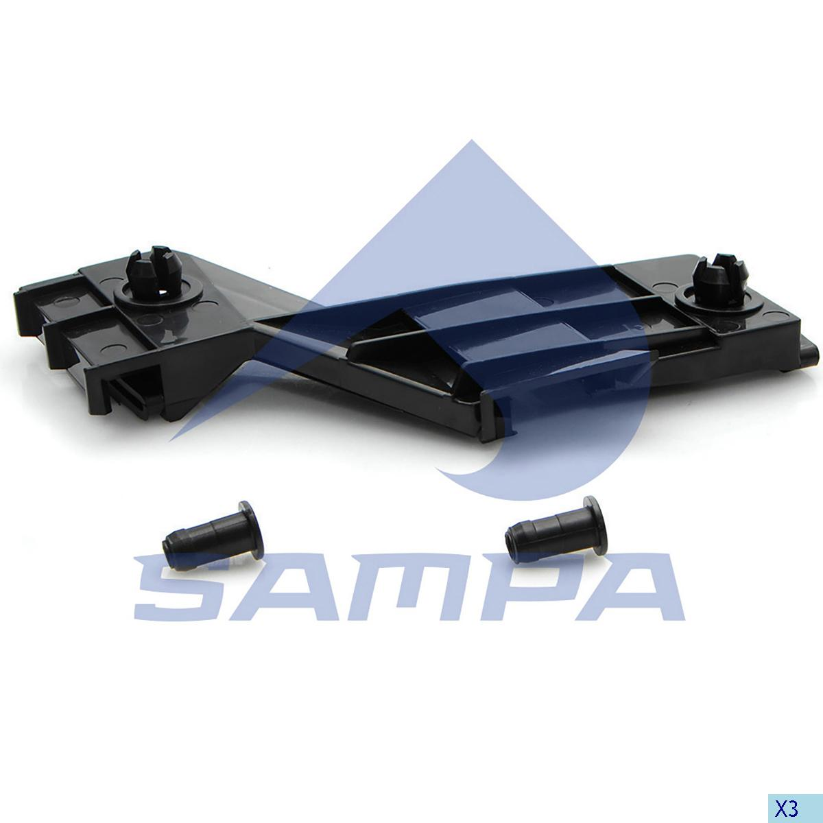 Bracket, Bumper, Mercedes, Chassis