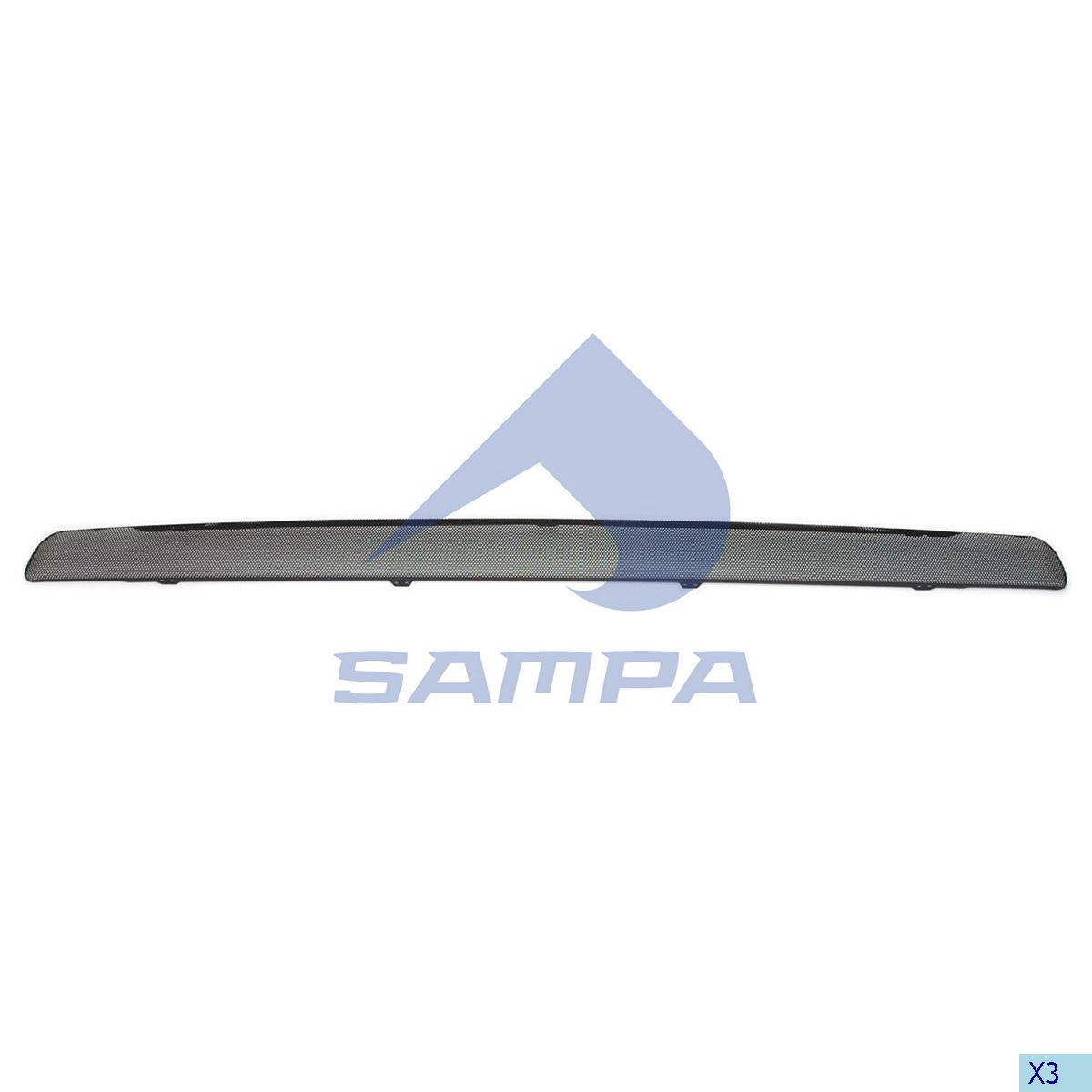 Trim Strip, Front Panel, Scania, Cab