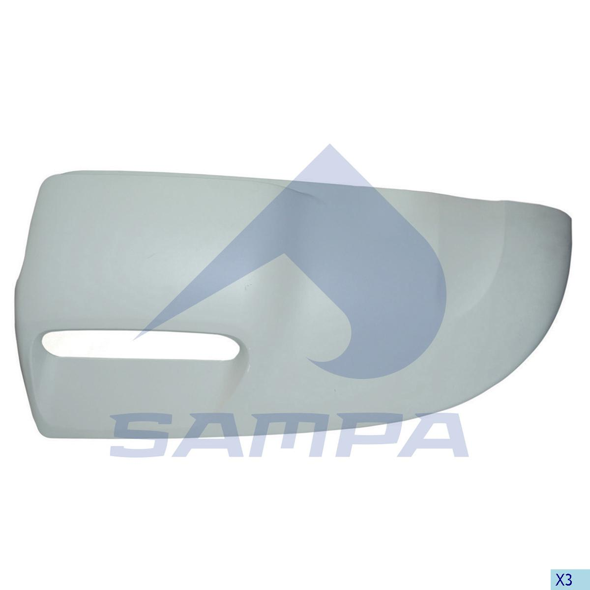 Air Deflector, Cab Corner, Scania, Cab