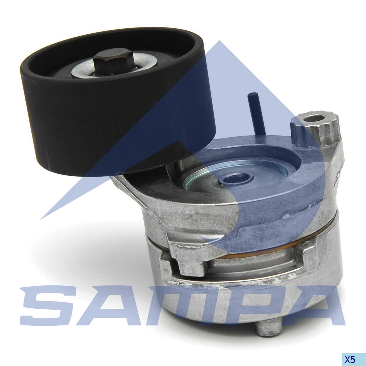 Belt Tensioner, Fan, Mercedes, Engine