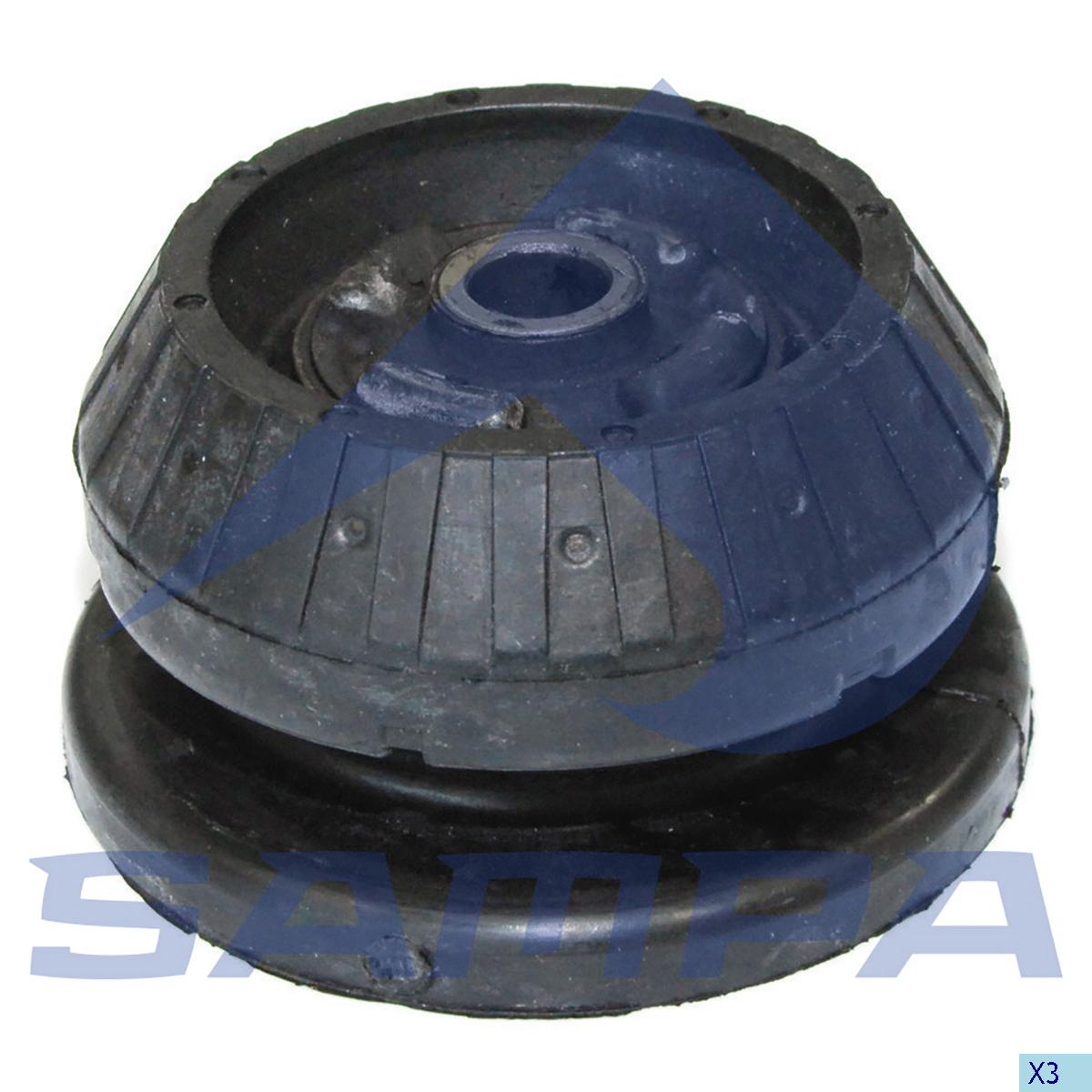 Rubber Bearing, Shock Absorber, Mercedes, Suspension