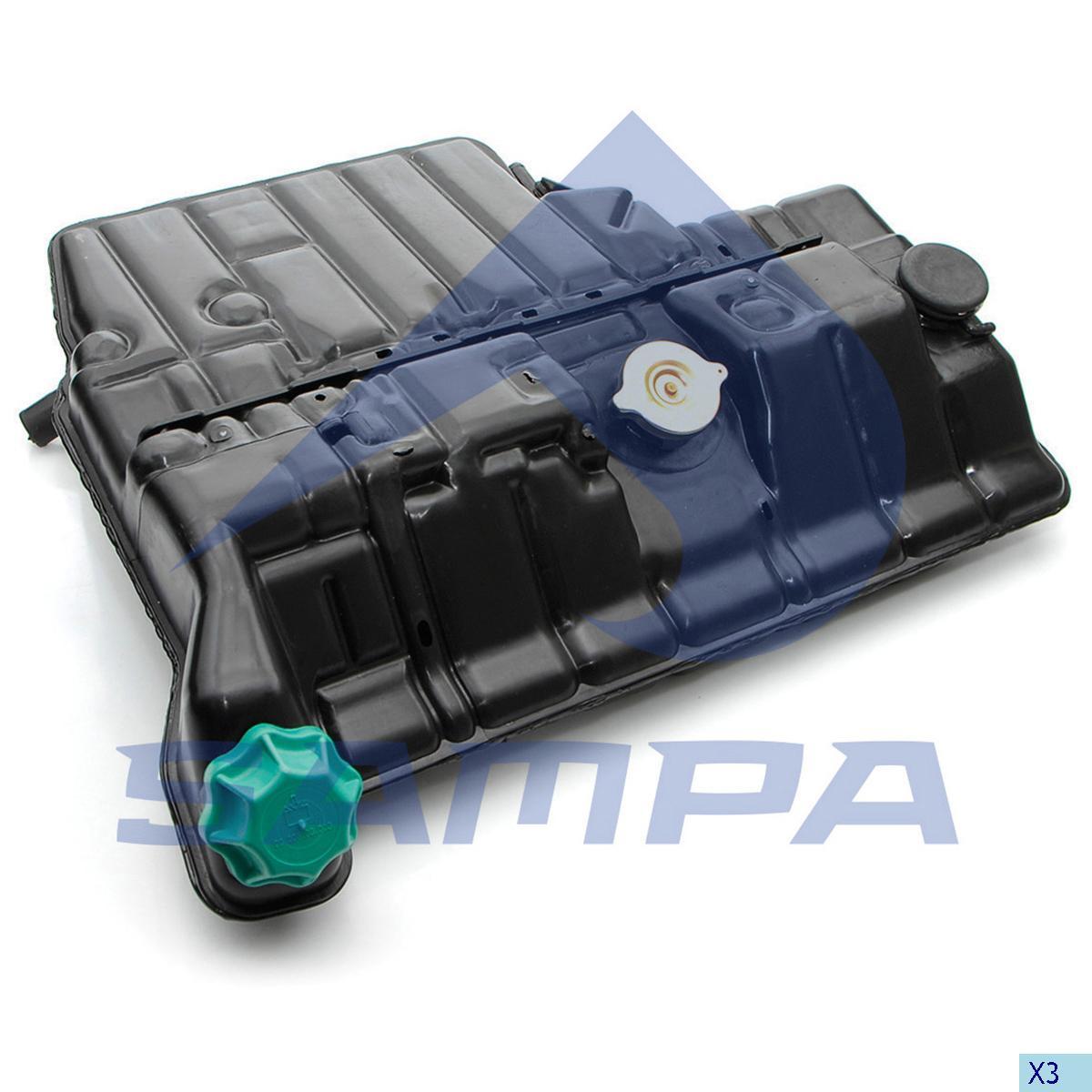 Expansion Tank, Radiator, Mercedes, Engine