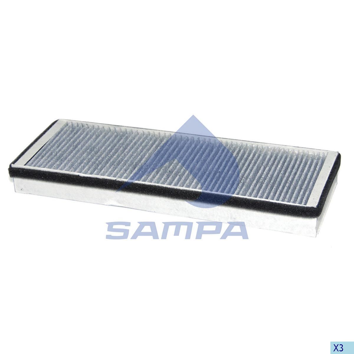Filter, Cab Heating & Ventilation, Mercedes, Cab
