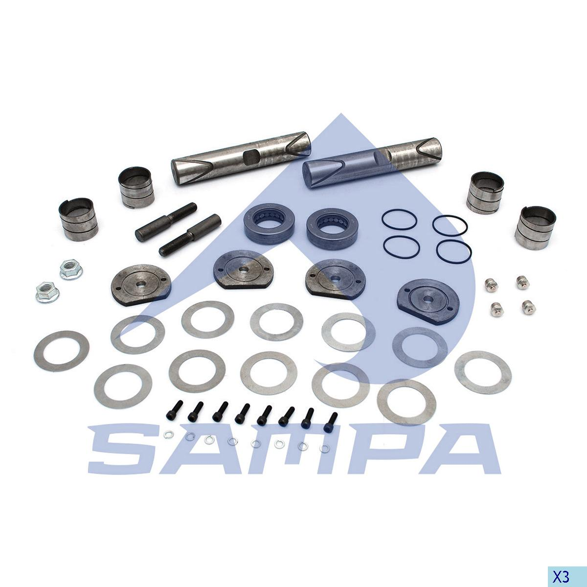 King Pin Kit, Axle Steering Knuckle, Ford, Power Unit